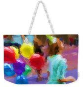 Girl And Her Balloons Weekender Tote Bag