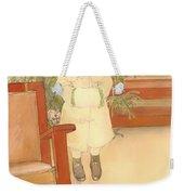 Girl And Rocking Chair Weekender Tote Bag