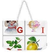 Girl Art Alphabet For Kids Room Weekender Tote Bag