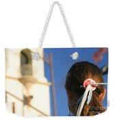 Girl Feather Headdress Weekender Tote Bag