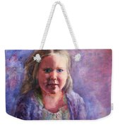 Girl In A Purple Sweater Weekender Tote Bag