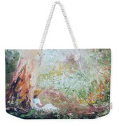 Girl In A White Dress Weekender Tote Bag