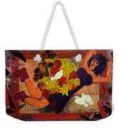 Girl In Abstract Weekender Tote Bag