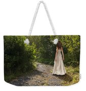 Girl In Country Lane Weekender Tote Bag