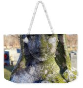 Girl In Green Weekender Tote Bag