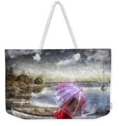 Girl In Red Coat Weekender Tote Bag