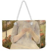 Girl In The Garden Weekender Tote Bag
