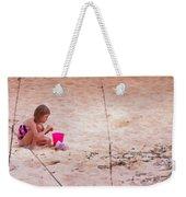 Girl In The Sand Weekender Tote Bag