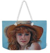 Girl In The Straw Hat Weekender Tote Bag