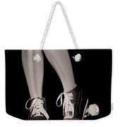 Girl Legs In Roller Skates Artistic Concept Weekender Tote Bag