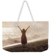 Girl On Beach Weekender Tote Bag by Joana Kruse