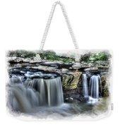 Girl On Rock At Falls Weekender Tote Bag by Dan Friend