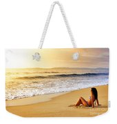 Girl On Seashore  Weekender Tote Bag