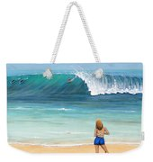 Girl On Surfer Beach Weekender Tote Bag