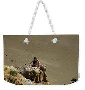 Girl On The Rocks - Compton Bay Weekender Tote Bag