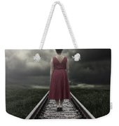 Girl On Tracks Weekender Tote Bag