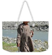 Girl Poses For Camera  Weekender Tote Bag