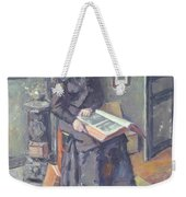 Girl Reading A Book Weekender Tote Bag