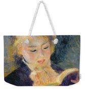 Girl Reading Weekender Tote Bag