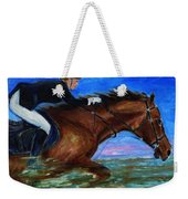 Girl Riding Her Horse II Weekender Tote Bag