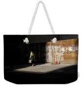 Girl Walking Into Shadow - New York City Street Scene Weekender Tote Bag