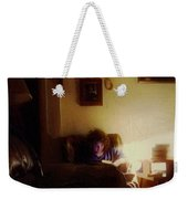 Girl With A Book Weekender Tote Bag