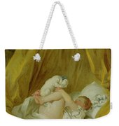 Girl With A Dog Weekender Tote Bag by Jean Honore Fragonard