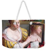 Girl With A Mirror, An Allegory Weekender Tote Bag