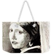 Girl With A Pearl Earring By Jan Vermeer Van Delft Weekender Tote Bag
