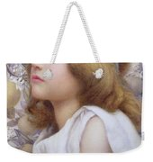 Girl With Apple Blossom Weekender Tote Bag by Henry Ryland