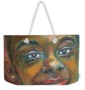 Girl With Diamond Earrings Weekender Tote Bag