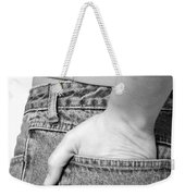 Girl With Hand In Back Pocket Weekender Tote Bag