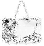 Girl With Laptop  Weekender Tote Bag