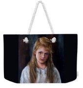 Girl With Long Brown Hair Weekender Tote Bag