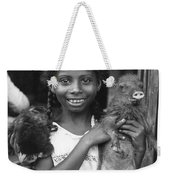 Girl With Pet Peccary Weekender Tote Bag