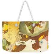 Girl With Rabbits Weekender Tote Bag