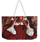 Girl With The Poor Hearing Weekender Tote Bag