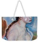 Girl With With Daisies Renoir Weekender Tote Bag