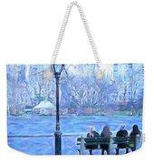 Girls At Pond In Central Park Weekender Tote Bag