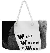Girl's Demand Excitement Homage Helldorado Days Tombstone Arizona  1931-1980 Weekender Tote Bag