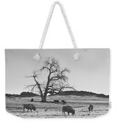 Give Me A Home Where The Buffalo Roam Bw Weekender Tote Bag