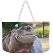 Give Me A Kiss Hippo Weekender Tote Bag