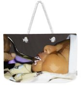 Giving Milk To A 4 Day Old Indian Baby Boy Through A Spoon Weekender Tote Bag