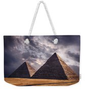 Giza Pyramids In Cairo Egypt Weekender Tote Bag