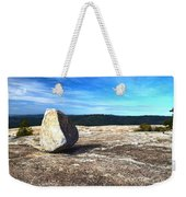 Glacial Erratic On Bald Rock Dome Weekender Tote Bag