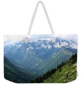 Glacier Mountain Weekender Tote Bag