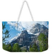 Glacier Seen From Kicking Horse Campground In Yoho Np-bc Weekender Tote Bag