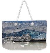 Glacier Tongue Calfing Icebergs Into Glacial Lake Weekender Tote Bag