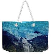Glacier Waterfall Weekender Tote Bag