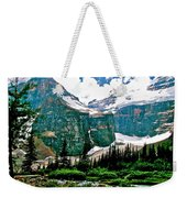 Glaciers Along Plain Of Six Glaciers Trail In Banff Np-alberta Weekender Tote Bag